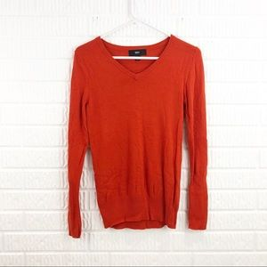 MOSSIMO orange v-neck sweater Size small